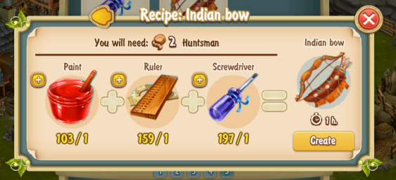 Golden Frontier Indian Bow Recipe