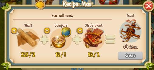 Golden Frontier Mast Recipe