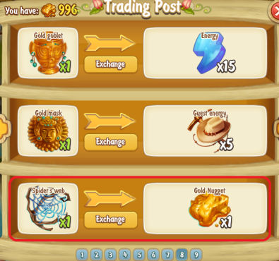 Golden Frontier New Trading Post Exchanges