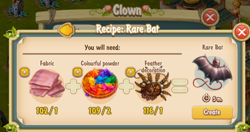 Golden Frontier Rare Bat Recipe