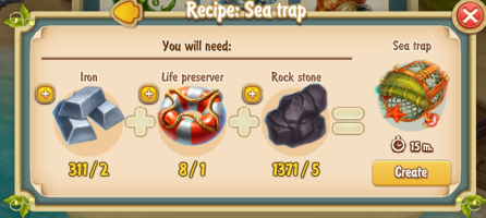Golden Frontier Sea Trap Recipe