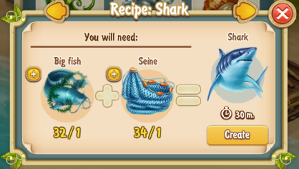 Golden Frontier Shark Recipe