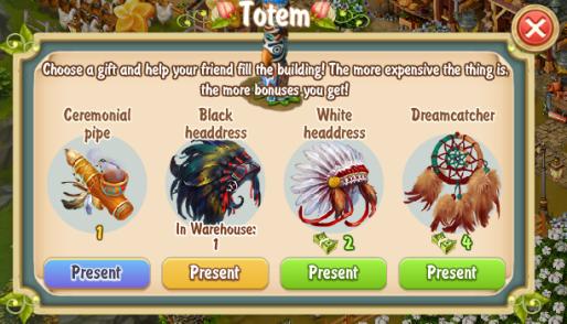 Golden Frontier Visiting Neighbor's Totem
