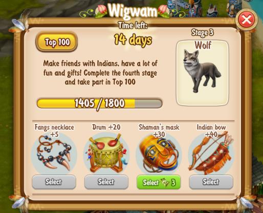 Golden Frontier Wig Wam Stage 3 Wolf