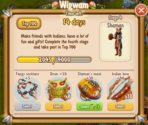 Golden Frontier Wig Wam Stage 4 Shaman