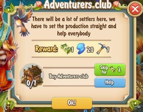 Golden Frontier Adventurers Club Quest