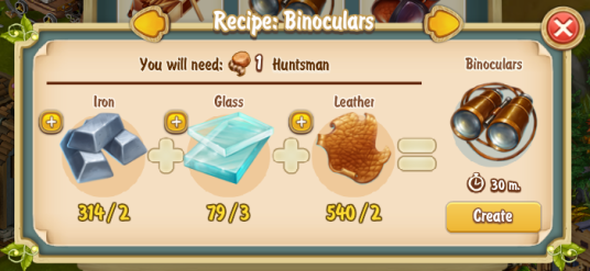 Golden Frontier Binoculars Recipe