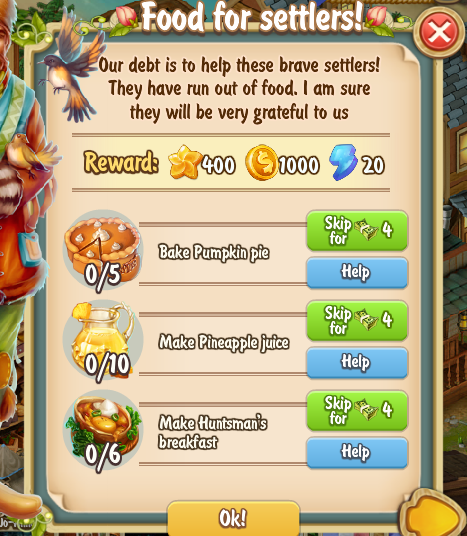Golden Frontier Food For Settlers Quest