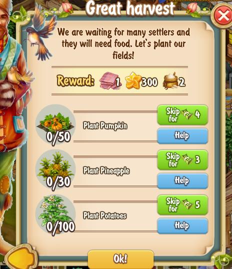 Golden Frontier Great Harvest Quest