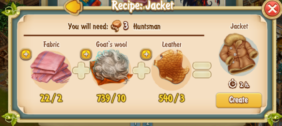 Golden Frontier Jacket Recipe