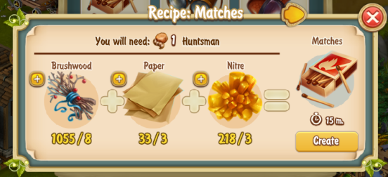 Golden Frontier Matches Recipe