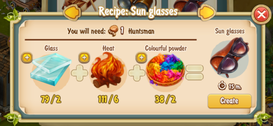 Golden Frontier Sunglasses Recipe