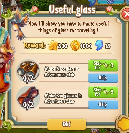 Golden Frontier Useful Glass Quest