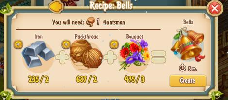 Golden Frontier Bells Recipe (Jeweler's Workshop)