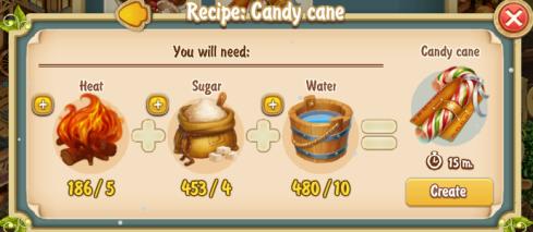 Golden Frontier Candy Cane Recipe (Kitchen)