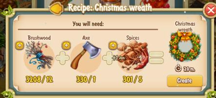 Golden Frontier Christmas Wreath Recipe (Barn)