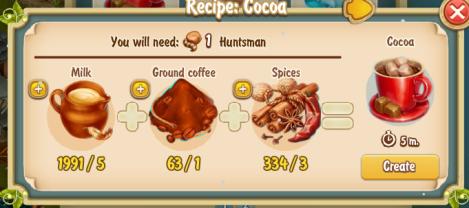 Golden Frontier Cocoa Recipe (igloo)