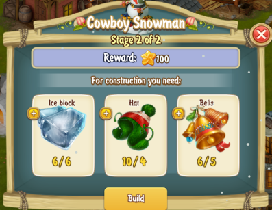 Golden Frontier Cowboy Snowman Stage 2