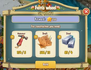 Golden Frontier Ferris Wheel Stage 1