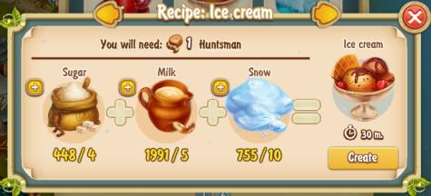 Golden Frontier Ice Cream Recipe (igloo)