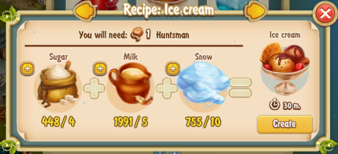 Golden Frontier Ice Cream Recipe (igloo)