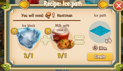 Golden Frontier Ice Path Recipe (igloo)