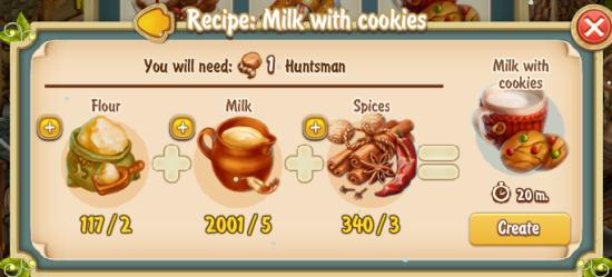 Golden Frontier Milk With Cookies Recipe (bakery)