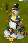 Golden Frontier Neighbor Snowman