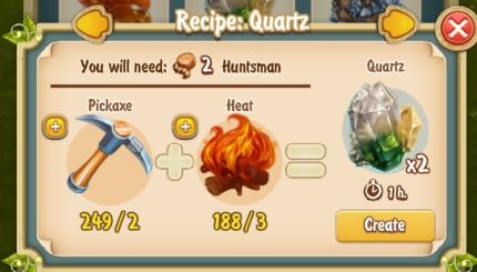 Golden Frontier Quartz Recipe