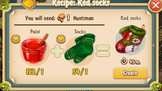 Golden Frontier Red Socks Recipe (Textile Workshop)