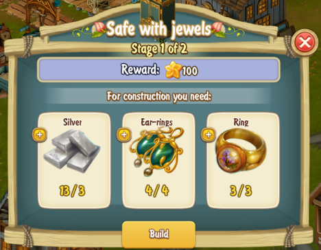 Golden Frontier Safe With Jewels Stage 1