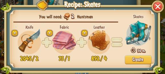 Golden Frontier Skates Recipe (Adventurer's Club)