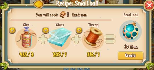 Golden Frontier Small Ball Recipe (workshop)