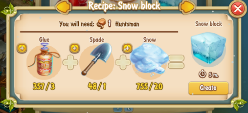 Golden Frontier Snow Block Recipe (igloo & rock quarry)