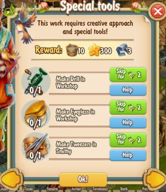Golden Frontier Special Tools Quest