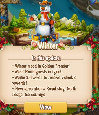 Golden Frontier Winter Update