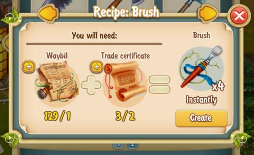 Golden Frontier Brush x4 Recipe