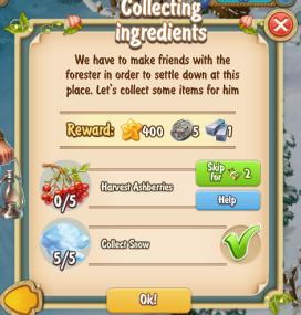 Golden Frontier Collecting Ingredients Quest