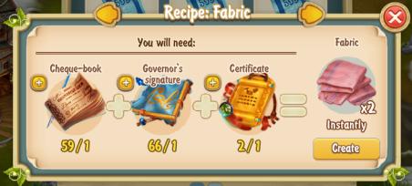 Golden Frontier Fabric x2 Recipe