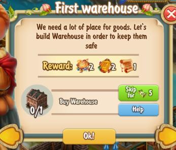 Golden Frontier First Warehouse Quest