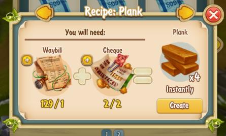 Golden Frontier Plank x4 Recipe
