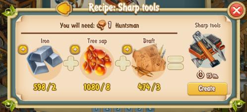 Golden Frontier Sharp Tools Recipe (Smithy)