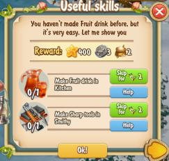 Golden Frontier Useful Skills Quest