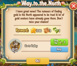 Golden Frontier Way to the North Quest