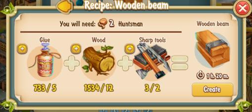 Golden Frontier Wooden Beam Recipe (Workshop)