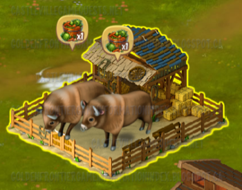 Bison in stall