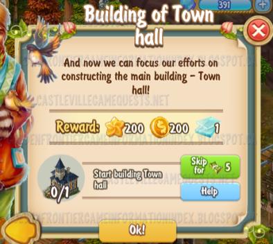 Golden Frontier Building of Town Hall Quest