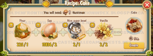 Golden Frontier Cake Recipe