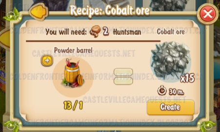 Golden Frontier Cobalt Ore Recipe (mine)