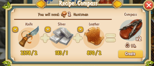 Golden Frontier Compass Recipe (smithy)